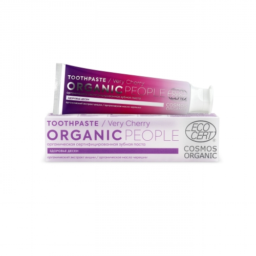 "Organic People / Oral care / Зубная паста ""VERY CHERRY"" здоровье десен, 85 гр"